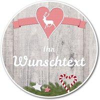 rundes Hüttendeko-Schild mit Hirsch 148mm