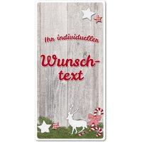 Hüttendeko Aluminiumschild mit Wunschtext - 100 x 200mm