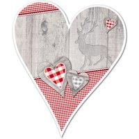 Hüttendeko-Herz mit kleinen Herzen - 180 mm