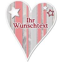 Hüttendeko-Herz mit Wunschtext und Sternen - 180mm