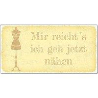 Vintageschild mit Wunschtext 200 x 100mm gelb