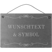 Dekoschild aus Schiefer 300 x 200 mm mit Wunschtext