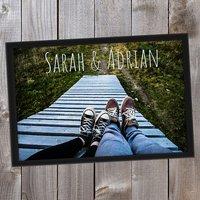 Personalisierte Fußmatte mit eigenem Namen und Foto 70 x 50 cm