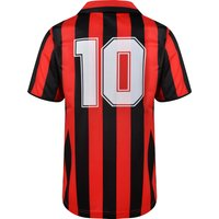 AC Milan 1988 No10 Retro Football Shirt