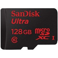 SanDisk Ultra 128 GB MicroSDXC UHS-I Memory Card with SD Adapter
