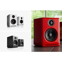 Audioengine 2+ (A2+) Premium WIRELESS Desktop Speakers Colour RED