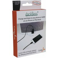 dockBoss 5 for iPhone 5 - charge and listen to any device