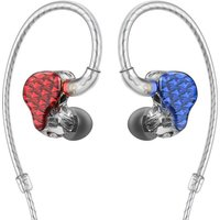 FiiO FA7 Quad Driver Balanced Armature In-Ear Monitors Colour RED/BLUE