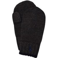 Ralph Lauren Dark Charcoal Heather Merino Mittens OS(2T4T)