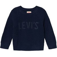 Levi39s Navy Waffle Knit Branded Jumper 6 years