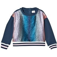 No Added Sugar Pink and Blue Lurex Stripe Sweater 3 years