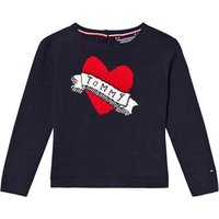 Tommy Hilfiger Navy Branded Heart Sweater 3 years