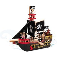 Le Toy Van Barbrossa Ship Playset with Glow in the Dark Flags One Size (3 years)