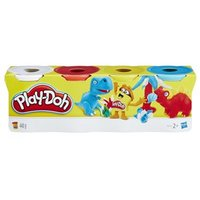 PlayDoh 4Pack of White Red Yellow and Blue PlayDoh 24 months  5 years