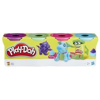 PlayDoh 4Pack of Purple Green Pink and Blue PlayDoh 24 months  4 years