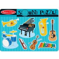 Melissa amp Doug Musical Instruments Sound Puzzle 12 months  4 years
