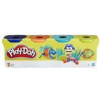 PlayDoh 4Pack of Blue Orange Turquoise and Green PlayDoh 24 months  5 years