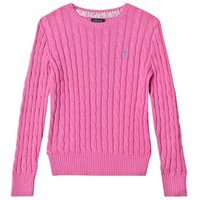 Ralph Lauren Hot Pink Cotton Cable Jumper M (810 years)