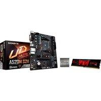 Gigabyte A520M S2H AMD Ryzen 5 3600 GSkill 8GB 3200 Mhz, PC-Aufrüstkit