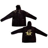 Black Cat XXL Fleece Jacke schwarz/gelb