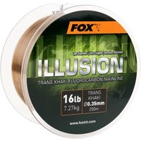 FOX Edges Illusion Soft Mainline x 200m 0.390mm 19lb/8.64kg trans khaki