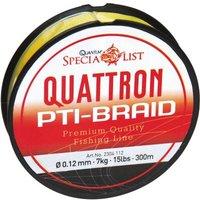 Quantum 0.12mm,300m,Quattron PTI-Schnur,gelb
