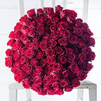 100 Red Roses with Vestri Truffles