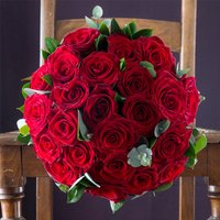 Opulent Red Roses & Pol Couronne Champagne