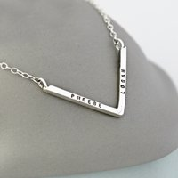 Personalsed Chevron Necklace
