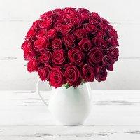 50 Red Roses & Jug Gift Set