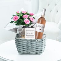 Rosé Wine Plant Hamper