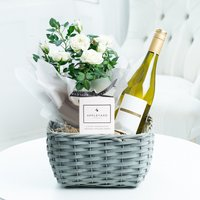 White Wine Plant Hamper