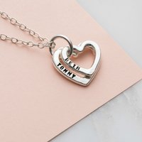 Personalised Baby Names Heart Necklace