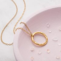 Personalised Circle Necklace - Gold