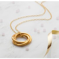 Personalised Yellow Gold Large Russian Ring Necklace