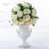 12 Luxury White Roses Gift Set