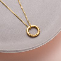 Personalised Gold Mini Message Necklace