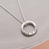 Personalised Silver Mini Message Necklace