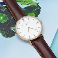 Women's Modern - Vintage Personalised Leather Watch in Brown