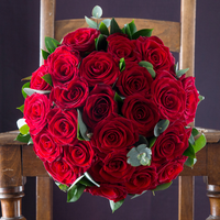 12 or 24 Opulent Red Roses