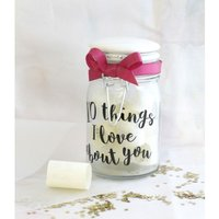 Personalised 10 Things I Love About You Jar