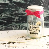 Personalised 10 Things I Love About Mum Jar