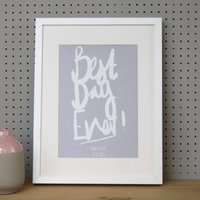 Personalised Best Day Ever Framed Print