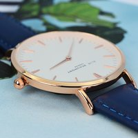 Modern - Vintage Personalised Leather Watch in Navy