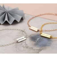 Personalised Name Bar Bracelet