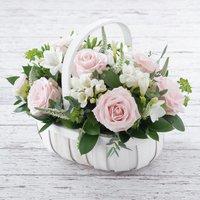 Pink Rose & Freesia Basket