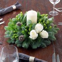 Polar Rose Christmas Table Centre