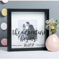 Personalised 'Adventure Begins' Wedding Frame