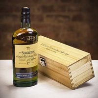 The Singleton 12 Year Old Single Malt Scotch Whisky in Personalised Wood Gift Box