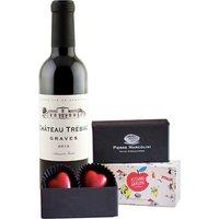 Chateau Trébiac Rouge Half Bottle & Luxury Chocolate Hearts
